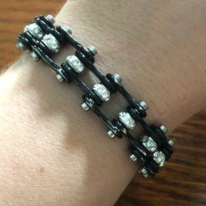 """Jewelry - 7.25"""" Stainless Steel Biker Chain Bling Bracelet"""